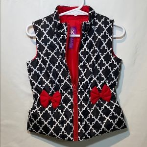 JK Designs Jackets & Coats - Toddler Girl  Puffer Vest black/white/red size 3T